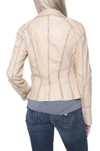 Cristiano di Thiene Leather Jacket NATURELLE SG, Color: Beige, Size: 38