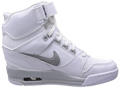 thumbnails of Nike Air Revolution Sky Hi Women's Shoes Wedge White/Hyper Punch/Metallic Silver/Wolf Grey 599410-102 (SIZE: 7.5)