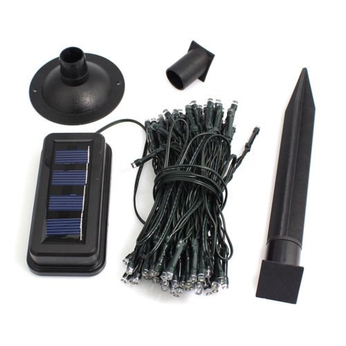 Xidaje Newest Solar String Light Led Outdoor Patio Lawn Fairy Christmas 100Pcs