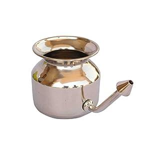 Stainless Steel Neti Pot for Sinus Congestion (Ayurvedic JalNeti)
