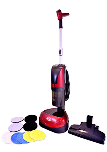 Ewbank EPV1100 4-in-1 Floor Cleaner, Scrubber, Polisher and Vacuum, Red Finish, 23-Foot Power Cord (Ewbank Floor Buffer compare prices)