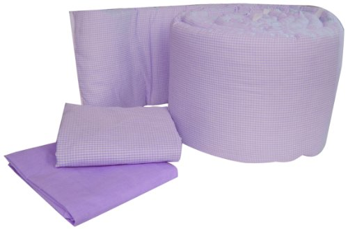 Baby Doll Bedding Gingham Grandmas Port-a-Crib Package, Lavender