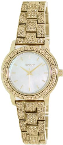 DKNY Gold Stainless Steel with Glitz Women's watch #NY8685
