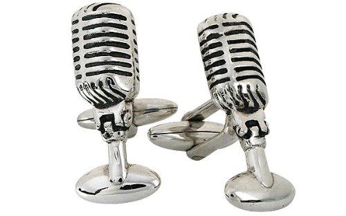 Microphone Cufflinks Retro Radio Cufflinks Sterling Silver Handcrafted