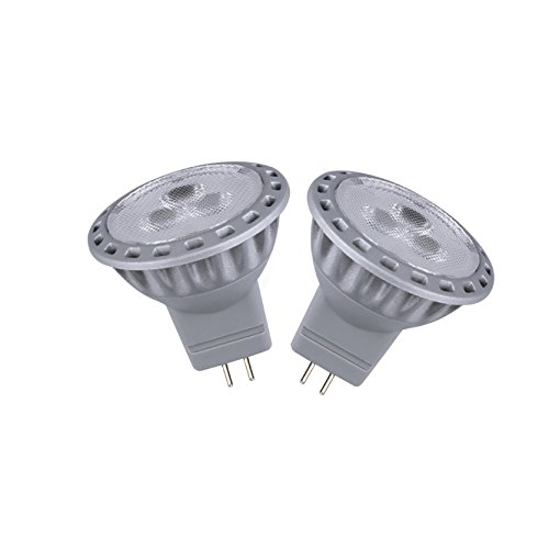 Le 2W Super Bright Mr11 Led Bulb, Equal To 30W Halogen Bulb, 12Vac/Dc, Narrow Beam, Warm White, Pack Of 2 Units