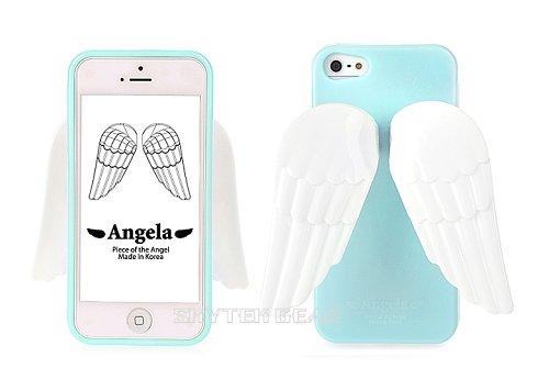 Great Sale Angela Apple iphone 5 Angel Wings Premium Case - Blue