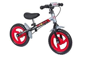 Hudora 10071 4.0 - Bicicleta sin pedales (ruedas de 30,5 cm), color negro y plateado