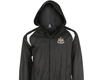 OFFICIAL NEWCASTLE UNITED BLACK HOODED TOP MEDIUM