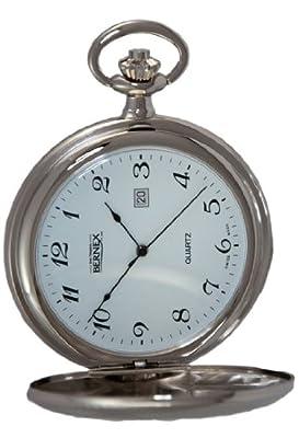 Bernex Pocket Watch GB21218 Rhodium Plated Full Hunter