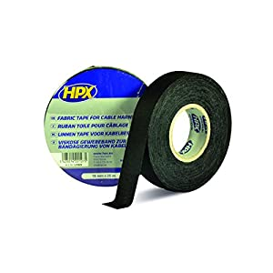 HPX MLI1925 Linen-Insulating Tape, Black