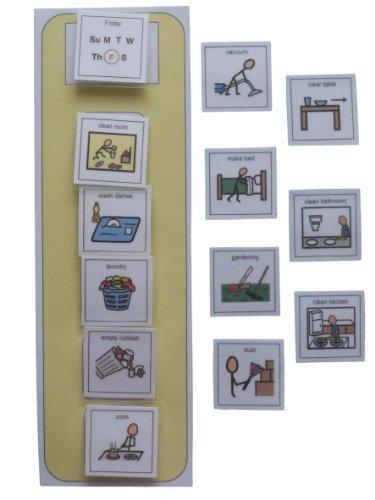 Autism Supplies And Developments PECS Pictorial Chores List