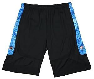 Buy Oklahoma City Thunder NBA Mens Big and Tall Blueprint Shorts, Black by Zipway