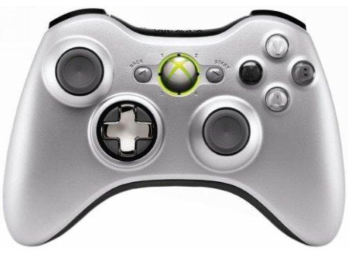 Drop Shot, Auto-Aim, Jitter Xbox 360 Modded Controller Cod Mw3, Black Ops, Mw2, Rapid Fire Mod (Silver/Silver Transforming D-Pad)