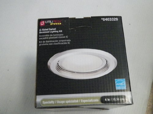 Utilitech Pro Brushed Nickel 4-In Integrated Led Remodel Recessed Ceiling Lighting Kit Item#403329 Model#18290-001 Upc#022011618371