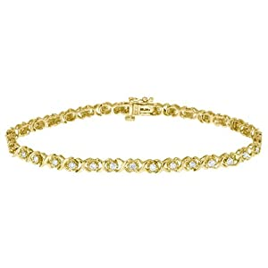 Diamond Tennis Bracelet 1.0 Carat (ctw) in 10K Yellow Gold