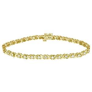 Diamond Tennis Bracelet 1.0 Carat (ctw) in 10K Yellow Gold
