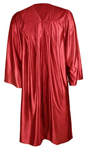 GraduationMall Unisex Economy Shiny Graduation Gown Only Marron Small 45(5'0