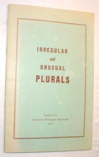 Irregular and Unusual Plurals, American Newspaper