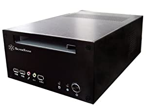 SilverStone Aluminum Alloy Mini-ITX Case with 60-Watt DC to DC Adapter LC12B (Black)
