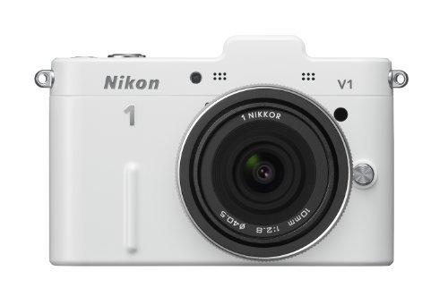 Nikon デジタル一眼カメラ Nikon 1 (ニコンワン) V1 (ブイワン) 薄型レンズキット ホワイトN1 V1ULK WH