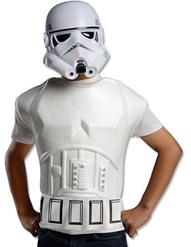 Rubies Star Wars Stormtrooper Deluxe Muscle Shirt Child Costume Top, Standard