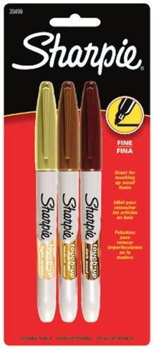 Sharpie Furniture Touch-Up Markers, 3 Colored Markers(30499)