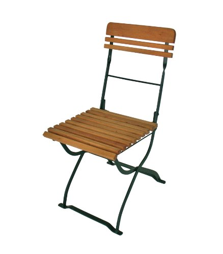 2x-Biergartenstuhl-MNCHEN-klappbar-Stahlgestell-grn-Holz-Robinie