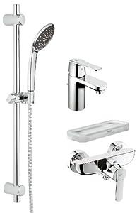 GROHE Get Set Ensemble de robinetterie pour lavabo / douche / baignoire Tablette incluse 23078000 (Import Allemagne)