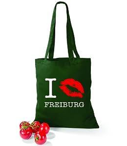 Artdiktat Baumwolltasche I kiss Freiburg
