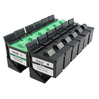 12 Pack. Refurbished Cartridges for Dell T0529 and Dell T0530. Includes Sophia Global Brand Cartridges for 6ea T0529 + 6ea T0530.