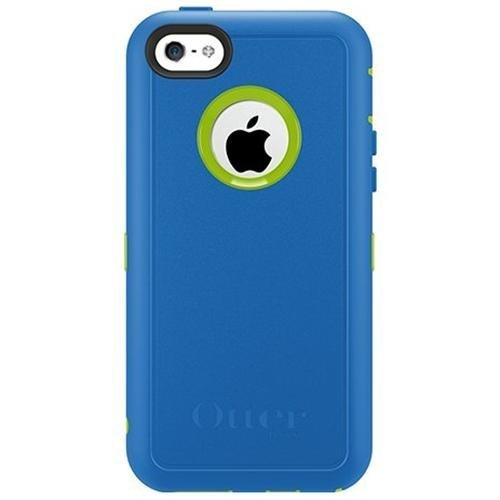 Otterbox Defender Series Case With Holster Clip For Iphone 5C Only - Retail Packaging - Ocean Blue/Glow Green