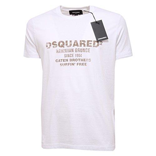 3122Q t-shirt DSQUARED D2 bianco maglia manica corta uomo t-shirt men [XL]