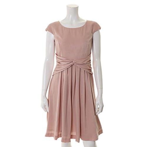 (クリアインプレッション)Clear Impression dress サテンスエードワンピース ピンク 02