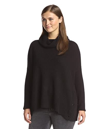 Love Token Women's Snapped Cowl Neck Sweater