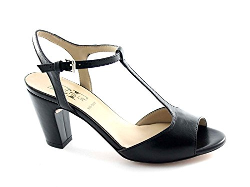DIVINE FOLLIE 400602 nero sandali donna charleston donna tacco 40