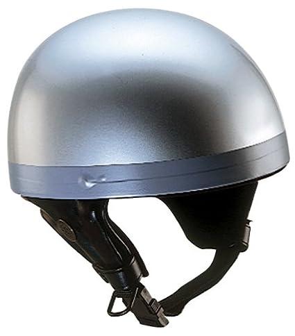 Nikko N10 Casque bol de moto taille L (Argent)