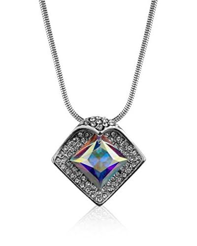 Absolute Crystals Conjunto de cadena y colgante Folded Square Plateado / Fantasía