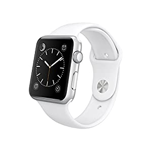 Apple Watch Sport 38mm Silver Aluminum Case with White Band MJ2T2LL/A (Certified Refurbished)