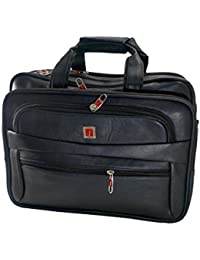 JEDEX Synthetic Leather Executive Office Bag/Laptop Bag, 16 InchesMN- WITH EXPANDABLE. SPACE