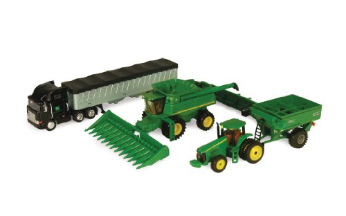 Ertl John Deere Harvesting Set, 1:64 Scale back-1057114