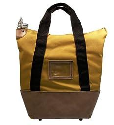Locking Courier Bag 1350 Denier Ballistic Weave Nylon Combination Lock Gold