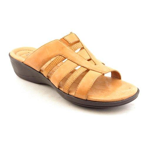 Clarks Artisan Rejoice Boa Open Toe Slides Sandals Shoes Tan Womens UK 7