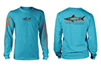 Fishing The Flats - Hi-Performance Shirt, LS Aqua Blue - X-large