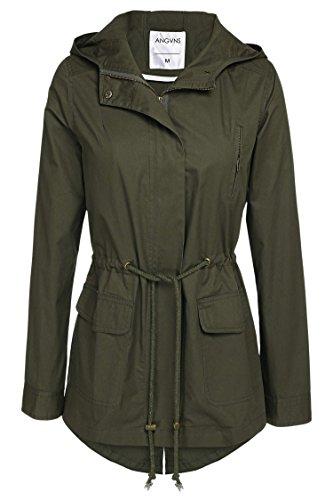 ANGVNS Anorak Safari Hoodie Jacket Coat for women Army Green XL