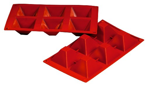 Fat Daddio's 3-Ounce Silicone Bakeware, Pyramid, 2.8-Inch by 2.8-Inch by 1.57-Inch