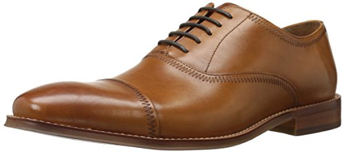 Steve Madden Men's Marky Oxford, Tan Leather, 8.5 M US