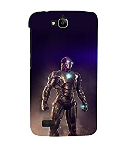 printtech Iron Suit Tesla Core Back Case Cover for Honor Holly