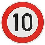 ORIGINAL VERKEHRSSCHILD 10 KM/H Schild DN 60 cm Nr. 274-51 zum Geburtstag als Geburtstagsgeschenk...