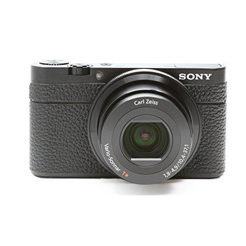Japanhobbytool Sony Cyber-Shot Dsc-Rx100 Camera Leather Decoration Sticker Leica1 Type 4008 Black (Hiding Logo)