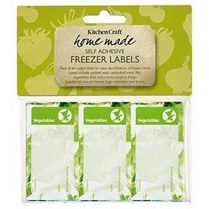 Kitchen Craft KCFRZLAB Hausgemachte Packung mit Sechzig Verschiedene Labels Gefrierschrank**UKIMPORT**